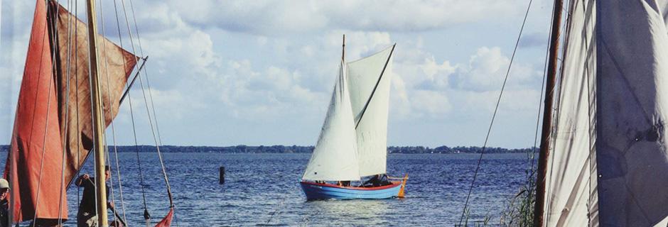 Alte Boote unter Segeln