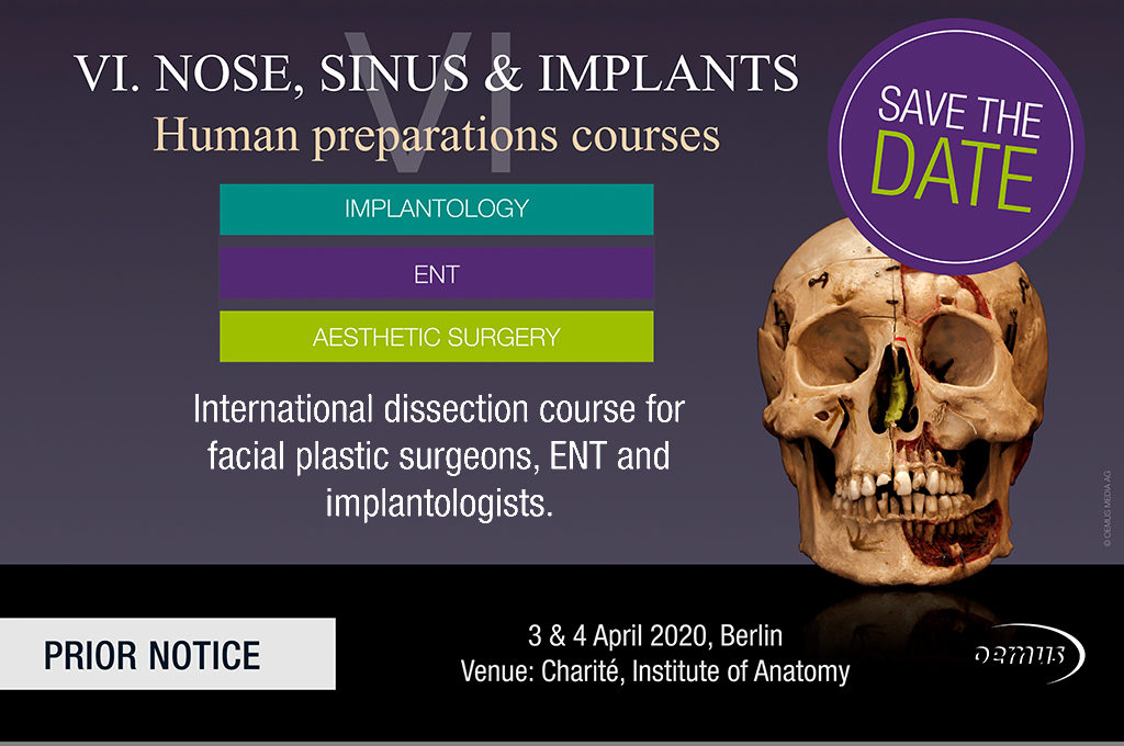 "6. Kursveranstaltung ""Nose, Sinus & Implants"""